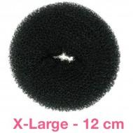 Hår donut - Sort - 12cm