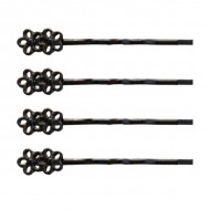 4 stk Flower Hairpins Sorte