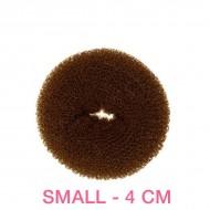 Hår donut - Brun - 4cm