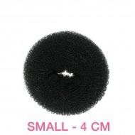 Hår donut - Sort - 4cm