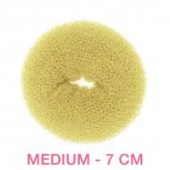 Hår donut - Blond - 7cm