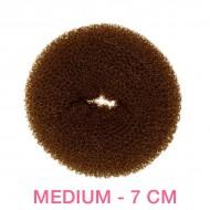 Hår donut - Brun - 7cm