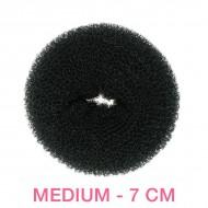 Hår donut - Sort - 7cm