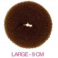 Hår donut - Brun - 9cm