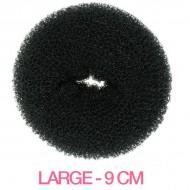 Hår donut - Sort - 9cm