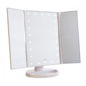 Uniq Hollywood Makeup Spejl Trifold spejl med LED lys, Hvid (4777.1)