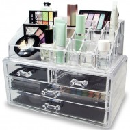 AVERY® Makeup Organizer med 4 skuffer + top
