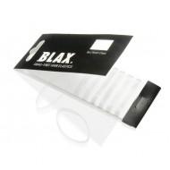 BLAX Snagfree Hår elastik 4 mm Hvide - Gennemsigtige