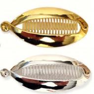 Hårspænde mega fish - guld/sølv