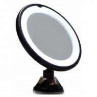 UNIQ spejl med LED ( 10x forstørrelse og sugekop) - Sort