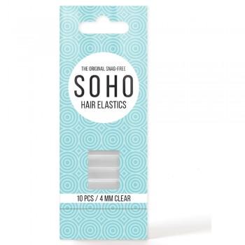 SOHO Snag-Free Hårelastikker, gennemsigtig - 10 stk