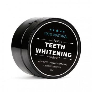 Teeth Whitening 100% organic - sort tandpasta med aktivt kul (30 g)