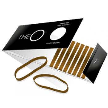 The O Hår elastik Brun pakke m/ 10 stk