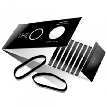The O Hår elastik Sort Pakke med 10 stk.